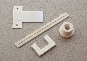 Ceramic parts for inkject printers