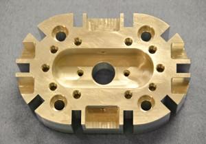 Precision-machined metal